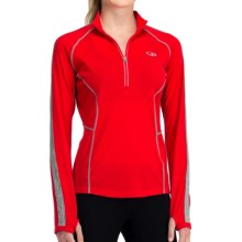 Icebreaker GT 200 Quest Zip Neck Base Layer Top - UPF 50+, Merino Wool, Long Sleeve (For Women) in Blaze - Closeouts