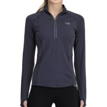 Icebreaker GT 200 Quest Zip Neck Base Layer Top - UPF 50+, Merino Wool, Long Sleeve (For Women) in Panther - Closeouts