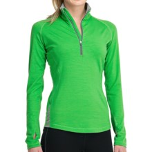 Icebreaker GT 260 Express Shirt - Merino Wool, Zip Neck, Long Sleeve (For Women) in Turf - Closeouts