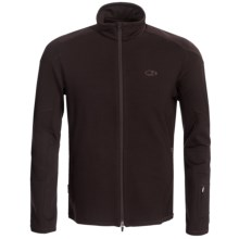 Icebreaker GT 320 Ascent Shirt - Merino Wool, Full Zip, Long Sleeve (For Men) in Espresso - Closeouts