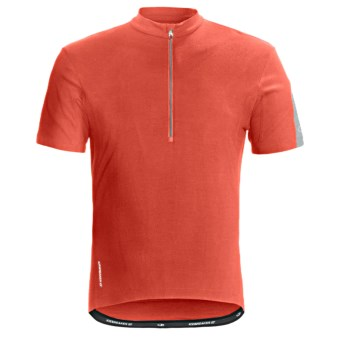 Icebreaker GT Bike Cadence Cycling Jersey - Merino Wool, Zip Neck, Short Sleeve (For Men) in Cajun