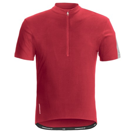 Icebreaker GT Bike Cadence Cycling Jersey - Merino Wool, Zip Neck, Short Sleeve (For Men) in Rocket/Silver