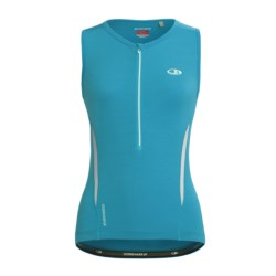 Icebreaker GT Bike Halo Cycling Jersey - Merino Wool, Zip Neck, Sleeveless (For Women) in Sari