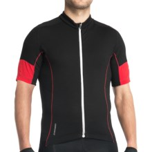 Icebreaker GT Bike Link Jersey - Stretch Merino Wool, Short Sleeve (For Men) in Black - Closeouts