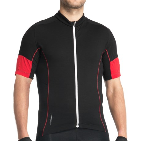 Icebreaker GT Bike Link Jersey - Stretch Merino Wool, Short Sleeve (For Men) in Black