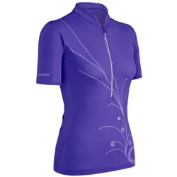 Icebreaker GT Bike Rhythm Cycling Jersey - Merino Wool, Zip Neck, Short Sleeve (For Women) in Mystic
