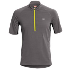 Icebreaker GT Bike Roto Cycling Jersey - Merino Wool, Zip Neck, Short Sleeve (For Men) in Monsoon - Closeouts