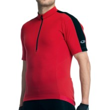 Icebreaker GT Bike Torque Jersey - Short Sleeve (For Men) in Rocket - Closeouts