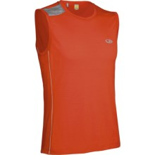 Icebreaker GT Run Ace Shirt - Merino Wool, Sleeveless (For Men) in Cajun - Closeouts