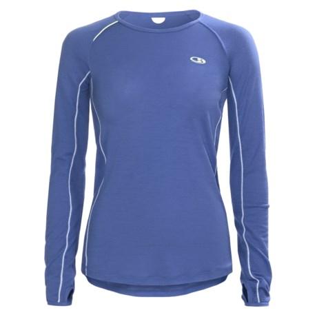 Icebreaker GT Run Rush Shirt - Merino Wool, Long Sleeve (For Women) in Cove