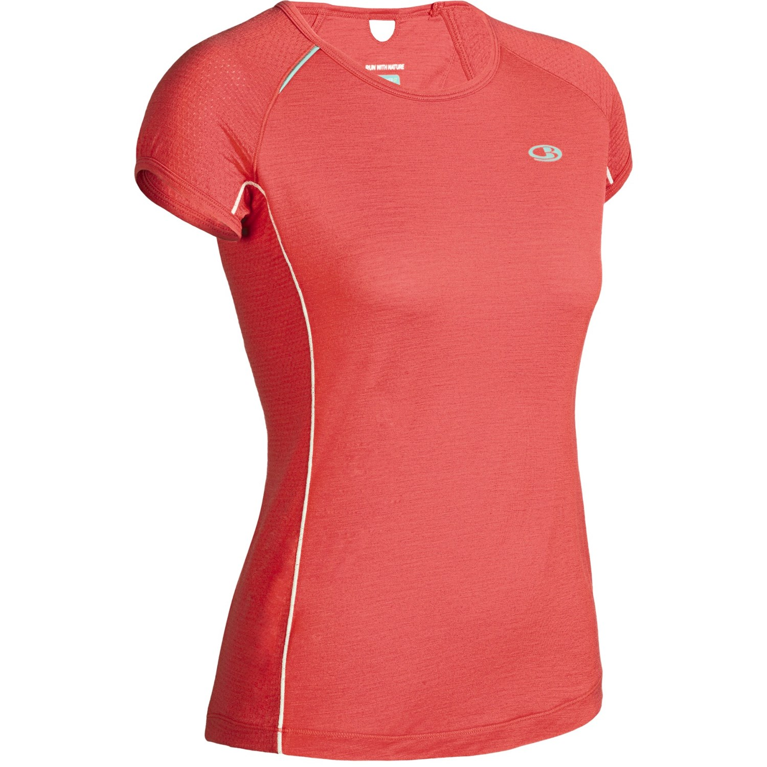Icebreaker gt run rush shirt merino wool short sleeve for Merino wool shirt womens