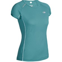 Icebreaker GT Run Rush Shirt - Merino Wool, Short Sleeve (For Women) in Tropic - Closeouts