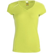 Icebreaker GT Run Rush T-Shirt - Merino Wool, V-Neck, Short Sleeve (For Women) in Citrine - Closeouts