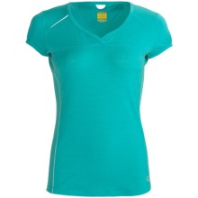 Icebreaker GT Run Rush T-Shirt - Merino Wool, V-Neck, Short Sleeve (For Women) in Tropic - Closeouts