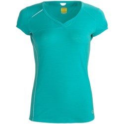 Icebreaker GT Run Rush T-Shirt - Merino Wool, V-Neck, Short Sleeve (For Women) in Citrine
