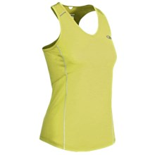 Icebreaker GT Run Rush Tank Top - Merino Wool (For Women) in Citrine - Closeouts