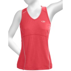 Icebreaker GT Run Rush Tank Top - Merino Wool (For Women) in Ember