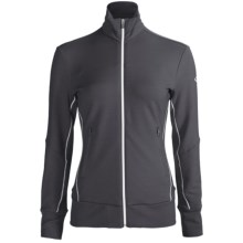 Icebreaker GT Run Swift Jacket - Merino Wool (For Women) in Panther - Closeouts