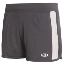 Icebreaker GT Run Swift Shorts - Merino Wool, Inner Brief (For Women) in Panther/Silver - Closeouts