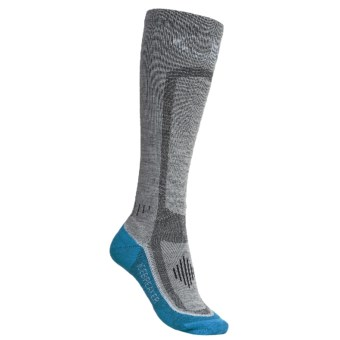 Icebreaker GT Ski Lite Socks - 2-Pack, Merino Wool, Over-the-Calf (For Women) in Silver/Bone/Belize