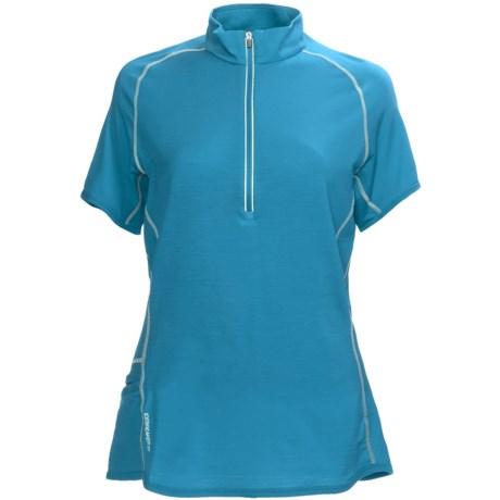 Icebreaker GT150 Dash Base Layer Top - Merino Wool, Zip Neck, Short Sleeve (For Women) in Belize