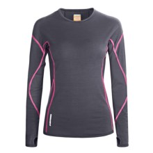 Icebreaker GT200 Chase Base Layer Top - Lightweight, Long Sleeve (For Women) in Panther - Closeouts