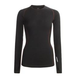 Icebreaker GT200 Pace Base Layer Top - Merino Wool, Crew Neck, Long Sleeve (For Women) in Panther/Silver