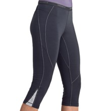 Icebreaker GT200 Pace Legless Capris - Stretch Merino Wool (For Women) in Panther - Closeouts