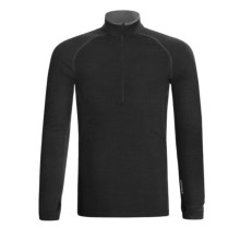Icebreaker GT200 Sprint Base Layer Top - Merino Wool, Zip Neck, Long Sleeve (For Men) in Black - Closeouts