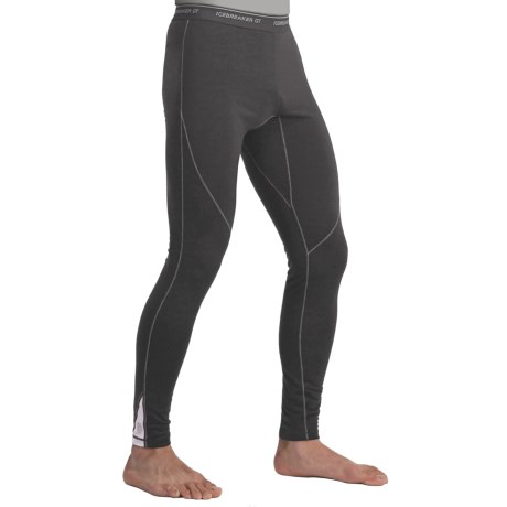 Icebreaker GT200 Sprint Leggings - Merino Wool (For Men) in Monsoon/Silver