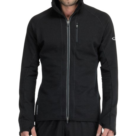 Icebreaker GT260 Quantum Hooded Shirt - Merino Wool (For Men) in Black