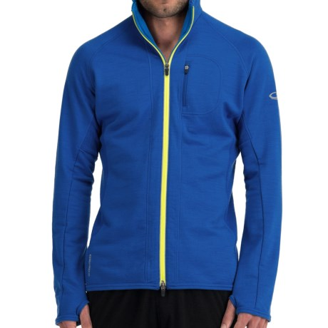 Icebreaker GT260 Quantum Hooded Shirt - Merino Wool (For Men) in Cadet