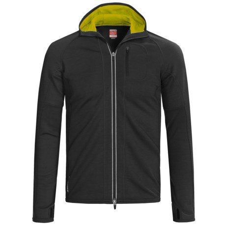 Icebreaker GT260 Quantum Hooded Shirt - Merino Wool (For Men) in Oak/Viper