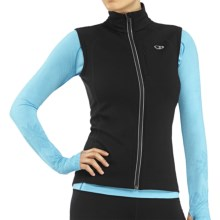 Icebreaker GT260 Quantum Vest - Merino Wool, UPF 40+ (For Women) in Black - Closeouts