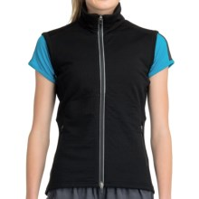 Icebreaker GT260 Quantum Vest - Midweight, Stretch Merino Wool (For Women) in Black - Closeouts