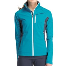 Icebreaker Gust Jacket - UPF 50+, Merino Wool Lining (For Women) in Gulf - Closeouts