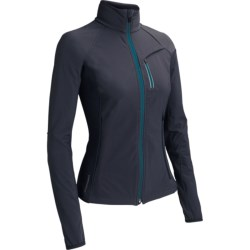 Icebreaker Gust Jacket - UPF 50+, Merino Wool Lining (For Women) in Panther