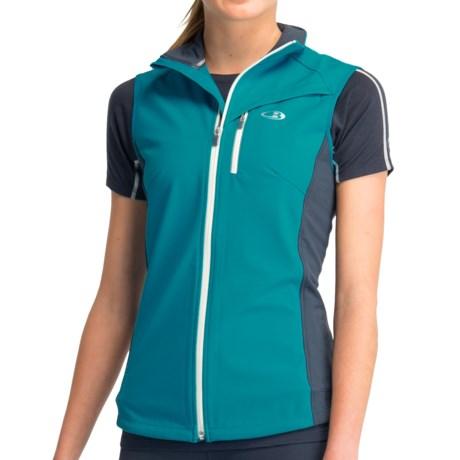 Icebreaker Gust Vest - UPF 50+, Merino Wool (For Women) in Gulf