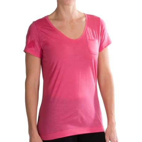 Icebreaker Harmony T Shirt Merino Wool, UPF 30+, Short Sleeve (For Women)