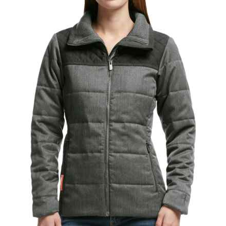 Icebreaker Helena Jacket - Merino Wool, Insulated (For Women) in Jet Heather/Black - Closeouts