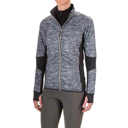 Icebreaker Helix Fraser Peaks Jacket - Merino Wool, Insulated (For Women) in Grey Heather/Stealth/Snow - Closeouts