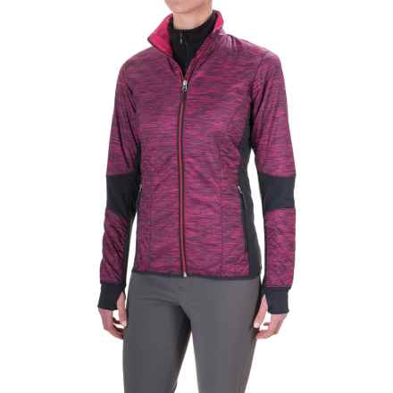 Icebreaker Helix Fraser Peaks Jacket - Merino Wool, Insulated (For Women) in Pop- Pink Heather/Stealth/Pop Pink - Closeouts