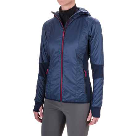 Icebreaker Helix Hooded Jacket - Merino Wool, Insulated (For Women) in Admiral/Pop Pink - Closeouts