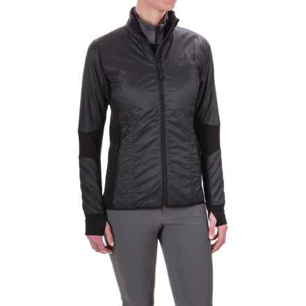 Icebreaker Helix Jacket - Merino Wool, Insulated (For Women) in Black/Black - Closeouts