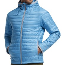 Icebreaker Helix MerinoLoft Hooded Jacket - Merino Wool, Insulated (For Men) in Aegean/Aegean/Metro Heather - Closeouts