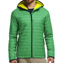 Icebreaker Helix MerinoLoft Hooded Jacket - Merino Wool, Insulated (For Men) in Lucky/Chartreuse/Bottle - Closeouts