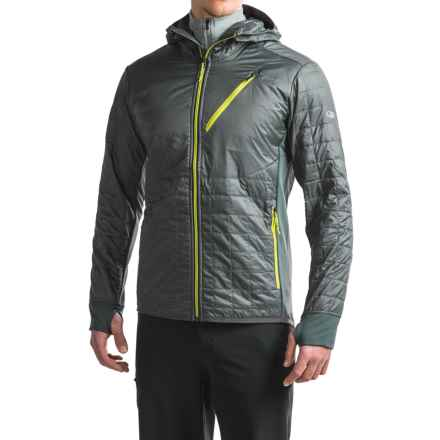 Icebreaker Helix MerinoLOFT Hooded Shirt Jacket - Insulated, Merino Wool (For Men) in Monsoon/Monsoon/Cactus - Closeouts