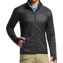 Icebreaker Helix MerinoLOFT Jacket - Insulated, Merino Wool (For Men) in Carbon/Alpine/Alpine - Closeouts