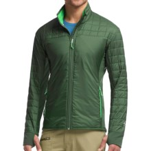 Icebreaker Helix MerinoLOFT Jacket - Insulated, Merino Wool (For Men) in Conifer/Balsam/Balsam - Closeouts