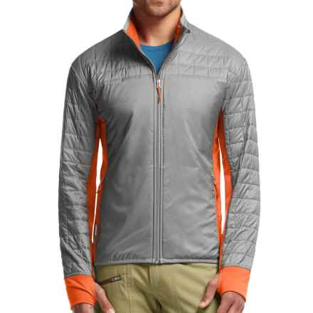 Icebreaker Helix MerinoLOFT Jacket - Insulated, Merino Wool (For Men) in Fossil/Spark/Spark - Closeouts